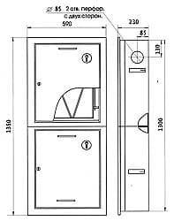 Шкаф пожарный ШПК-320ВЗ встроенный закрытый