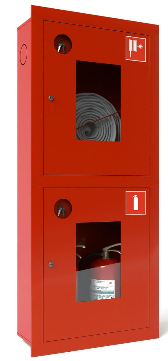 Шкаф пожарный ШПК-320ВО встроенный открытый