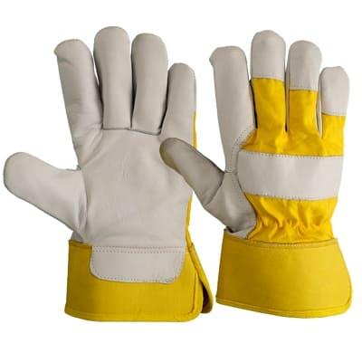 Перчатки кожаные комбинированные Юкон утепленные