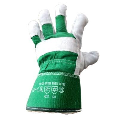 Перчатки спилковые комбинированные утепленные Ангара-Люкс