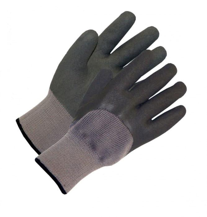 Перчатки утепленные двойные трикотажные с покрытием латекса