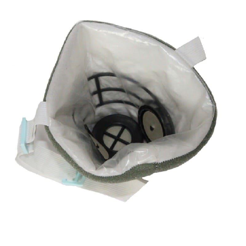 Респиратор полумаска У2К изнутри