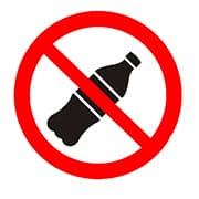 Знак на пленке Вход с напитками запрещен