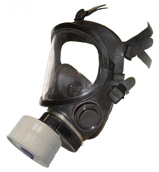 Противогаз с панорамной маской (черный)