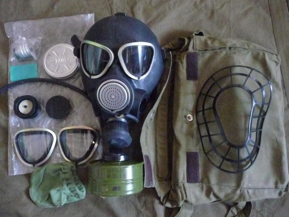 Комплектацтя противогаза ПМК-2
