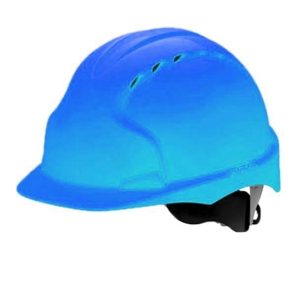 Каска строительная синяя с храповиком
