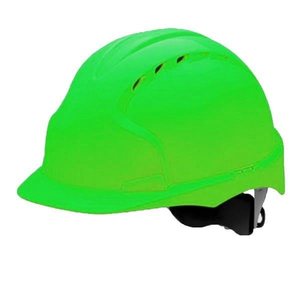 Каска строительная зеленая с храповиком