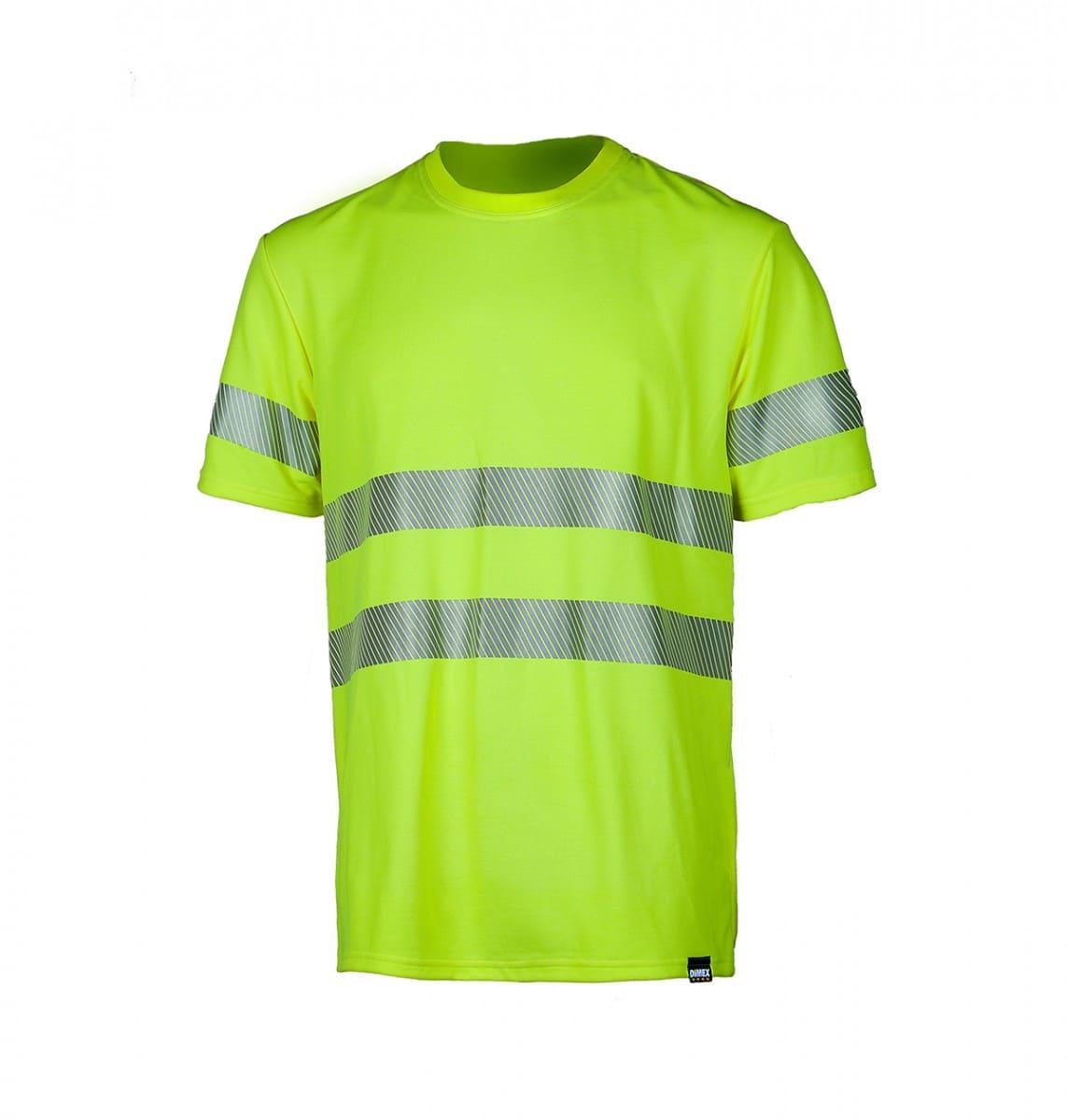 Футболка сигнальная светоотражающая с СОП лимонная(салатовая)