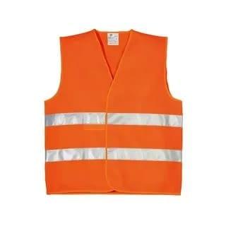 Сигнальный жилет-сетка с СОП оранжевая