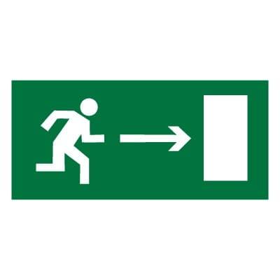 E03 Направление к эвакуационному выходу направо