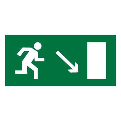 E07 Направление к эвакуационному выходу направо вниз