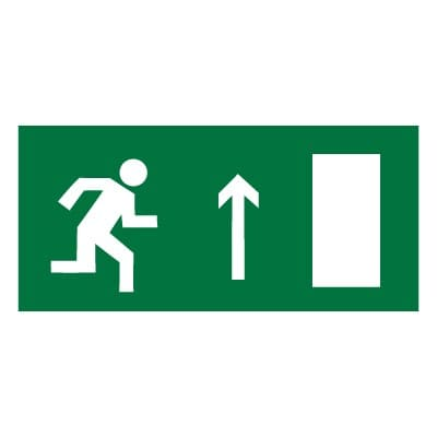 E11 Направление к эвакуационному выходу прямо (правосторонний)
