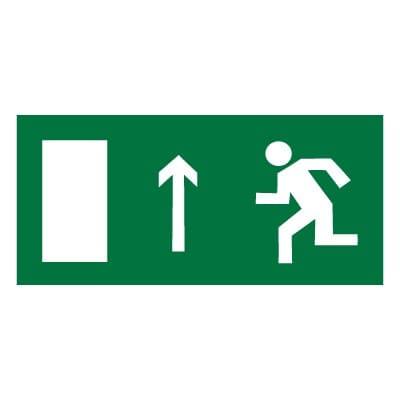 E12 Направление к эвакуационному выходу прямо (левосторонний)