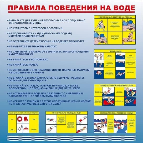 Стен правила поведения на воде